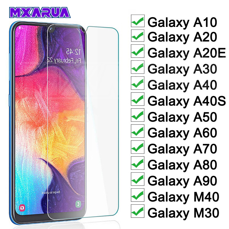 Protective Glass On The For Samsung Galaxy A10 A20 A30 A40 A50 A60 A70 A80 A90 A20E A40S M20 M30 M40 Screen Tempered Glass Film