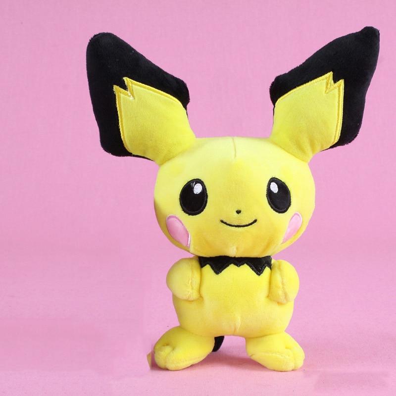 1pcs 26cm Pichu Plush Toys Doll Pichu Pendant Soft Stuffed Toys For Children Kids Birthday Christmas Gifts