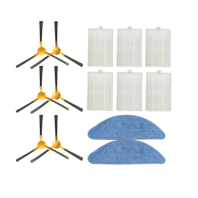 Side Brush HEPA Filter Mop Cloth For Proscenic 800T Robotic Vacuum Cleaner Cleaning Filter Mop Padds Accessories Kit