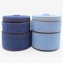 5 Yards 9MM/25MM/38MM  Jumper Denim Fabric Ribbon For Hair Bows DIY Crafts Handmade Accessories M19072601