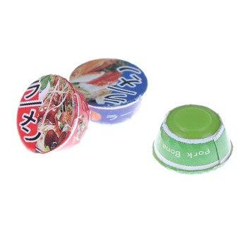 Casa de muñecas Mini bonita 112 3 uds., comida de imitación para cocina, decoración de fideos instantáneos japoneses, sopa de comida rápida