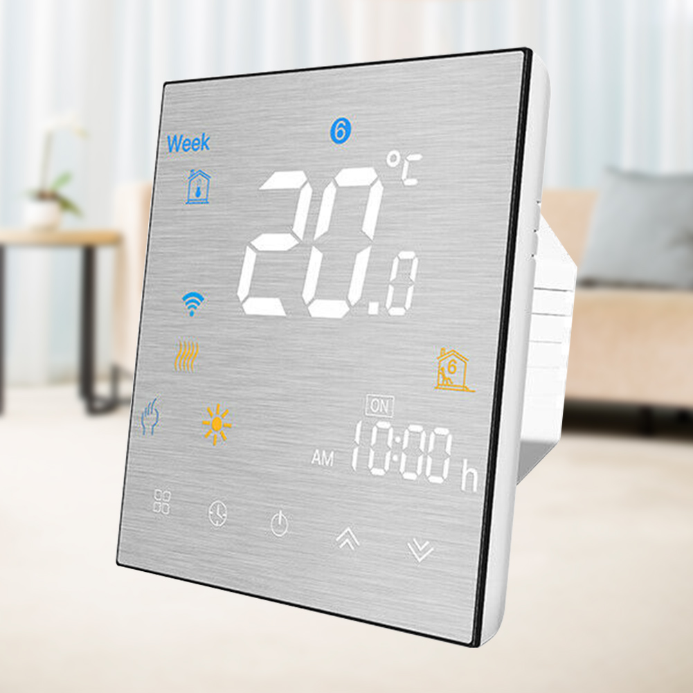 Voice Control Temperature Controller Programmable Thermostat Floor Heating Household NTC Sensor Touch Buttons For Alexa Google