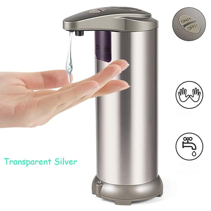 300ml Stainless Steel Touchless Bathroom Dispenser Smart Sensor Liquid Soap Dispenser Kitchen Hand Free Automatic Soap Dispenser