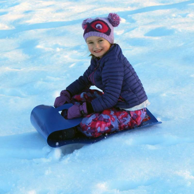 Sled Ski Blanket Child Safety Portable Winter Foldable Snowboard Flexible Roll-Up Sled Lawn Flying Carpet Fun Gift