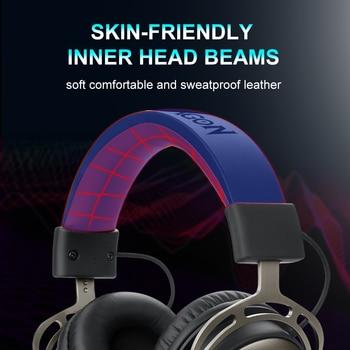 Redragon-auriculares H710 Helios para videojuegos, cascos con micrófono y cancelación de ruido, 7,1 USB Surround, para ordenador, controlador EQ 3
