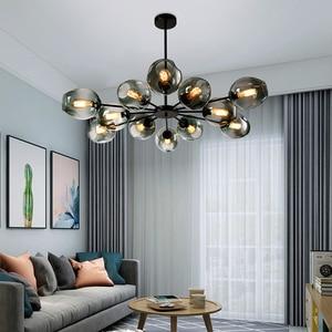 Image 2 - โมเดิร์นโคมไฟระย้าโคมไฟตกแต่งบ้านห้องรับประทานอาหารHanglamp luster Creativeห้องนั่งเล่นSimpleโคมไฟระย้าLED LIGHT