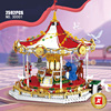 Create amusement park Andersen Fairy Tales Merry-go-round moc building block carrousel bricks toys collection for adults gifts
