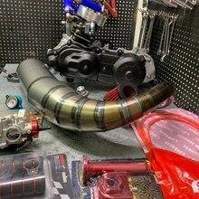 Двигатель DIO50 125 куб. См AF18, водяное охлаждение, большой диаметр 54,5 мм, длинный ход, коленчатый вал 53,4 мм + 4,4 вариатор 96 мм, выхлопная труба