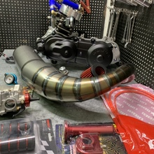 DIO50 engine 125cc AF18 water cooling JISO big bore 54.5mm long stroke crankshaft 53.4mm +4.4 variator 96mm exhaust pipe