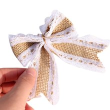 Party Gift Exquisite Lace Bowknot Linen Ornament WeddingDresses Costumes Supplies.(China)