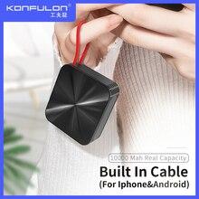 Cargador portátil delgado para móvil, Powerbank negro, cargador de batería externo, Banco de energía 10000 para iPhone 12, xiaomi A5