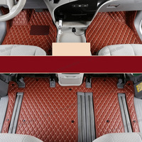 lsrtw2017 leather car floor mats for toyota sienna 2019 2018 2004 2016 2015 2011 2012 2013 2017 interior accessories XL30 carpet