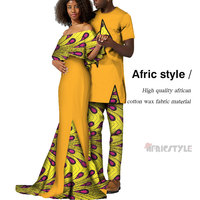 2020 African Lover Couples Clothes African Print Top and Pants Sets for Couple Clothing Bazin Riche 2 Pieces Lover Couples Cloth