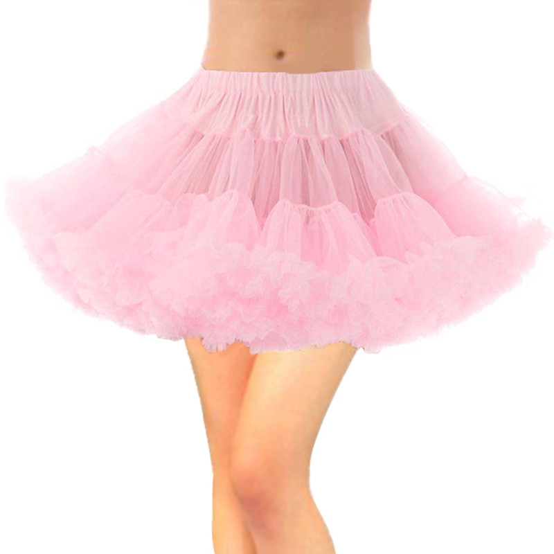 Bridal Petticoat White Pink Black Red Wedding Dress Short Underskirt Adult Tutu Tulle Skirt Slips Puffy Skirt Bustle Rockabilly