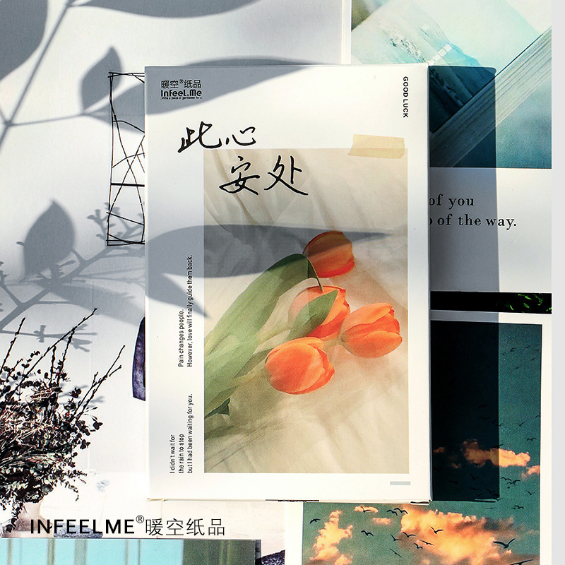 30pcs/box A Peaceful Place Series Postcard Vintage Retro Style Creative Writing Greeting Gift Postcards
