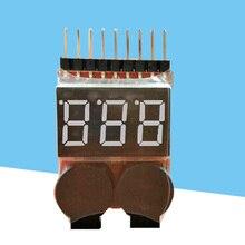 Высокая 1-8S светодиодный Lipo батарея монитор Индикатор напряжения проверки тестер низкого напряжения Звуковой сигнал для Lipo Li-Ion LiMn Li-Fe батареи
