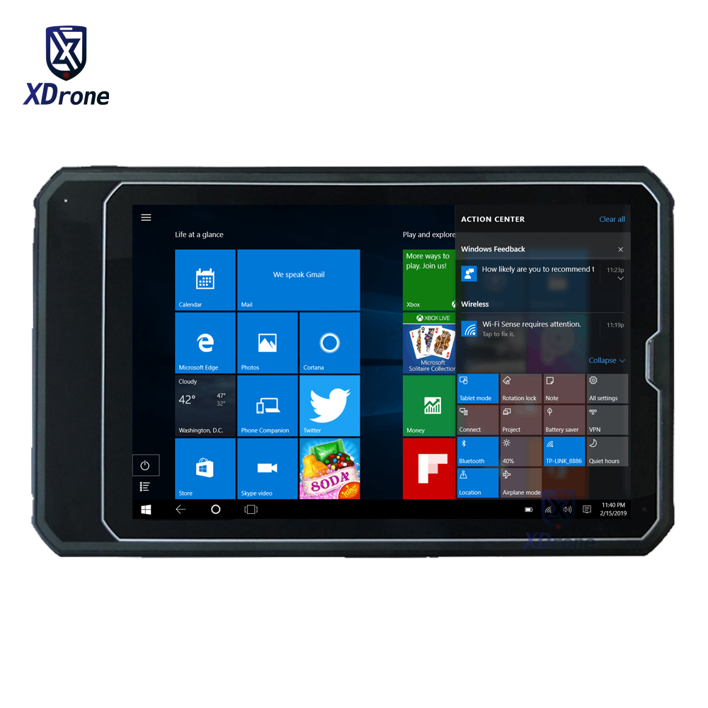 2020 Original Kcosit K10 Waterproof Rugged Windows 10 Tablet PC Z8350 4G SIM 10.1 Inch 2 In 1 Slim Industrial Tablet Fingerprint