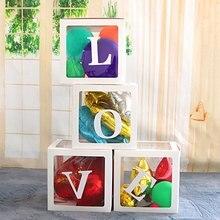 4 шт./компл. воздушный шар коробка «сделай сам» прозрачный ящик латексные шары блоки украшения шар размер коробки для дня рождения свадьбы
