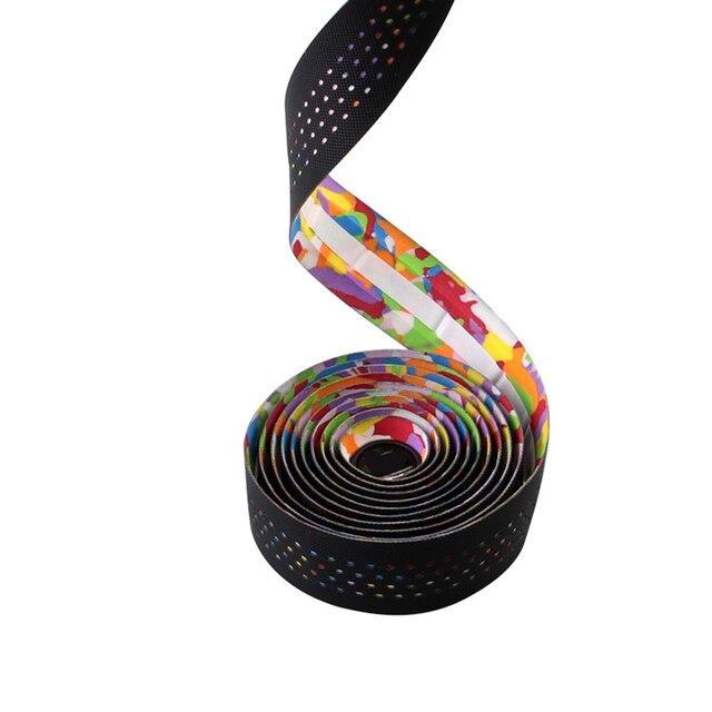 1 Pair Mountain Bike Road Cycling Handlebar Tape Belt Cycling Handle Bar Grip Anti-slip Wrap Sweat Strap 4