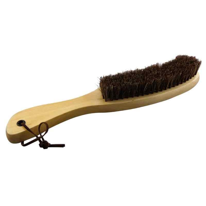 Escova macia da limpeza do punho de madeira da escova de crina para a roupa da mobília casaco terno roupa 27.5x4x4 cm