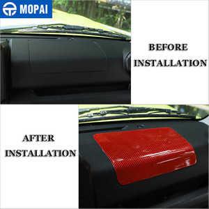 Image 2 - Mopai centro de fibra carbono copiloto carro painel controle decoração adesivos para suzuki jimny 2019 + acessórios interiores