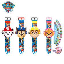 Paw Patrol Projection Digital Watch Time Toy Chase Skye Psi Patrol Anime Figure Patrulla Canina Toy Children Kids Birthday Gifts