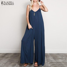 ZANZEA 2020 Strap Playsuits Women Casual Plus Size Jumpsuits