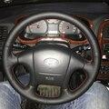 Оплетка на руль для Hyundai Sonata  накладка на руль для Hyundai Sonata  2006  2000  2001  2002  2003  2004  2005  Стайлинг автомобиля для салона