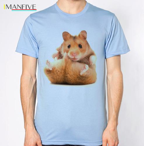 Hamster T Shirt Funny Hilarious Animal Pic Top Cartoon t shirt men Unisex New Fashion tshirt free shipping funny tops