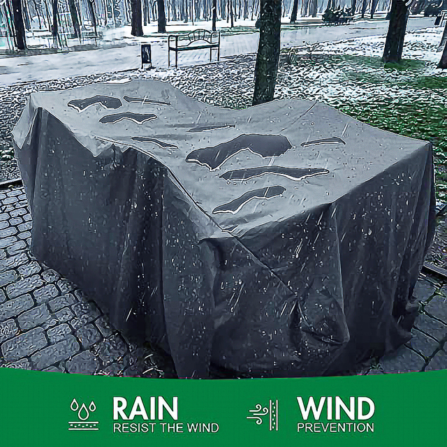 72Sizes Black Outdoor Patio Garden Furniture Waterproof Covers Rain Snow Chair covers for Sofa Table Chair Dust Proof Cover 2