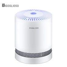 RIGOGLIOSO GL2109 — Purificateur d'air pour maison, véritables filtres HEPA, purificateurs de bureau compacts, filtration avec veilleuse, nettoyeur d'air