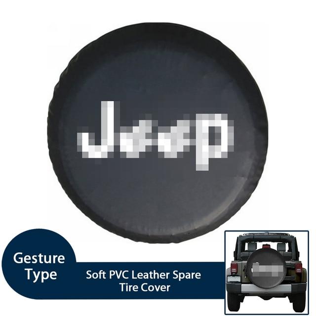 Weiche PVC Leder Ersatz Reifen Abdeckung Wasserdichte Finger Typ RV Rad Fall für Jeep LAND ROVER SUV Reifen Auto außen Zubehör