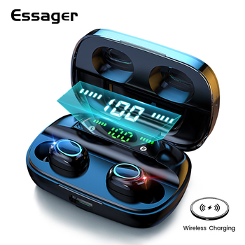 цена на Essager S11 TWS Wireless Bluetooth 5.0 Earphone Headphones Mini Cordless Headset True Wireless Earbuds For Phone Xiaomi iPhone
