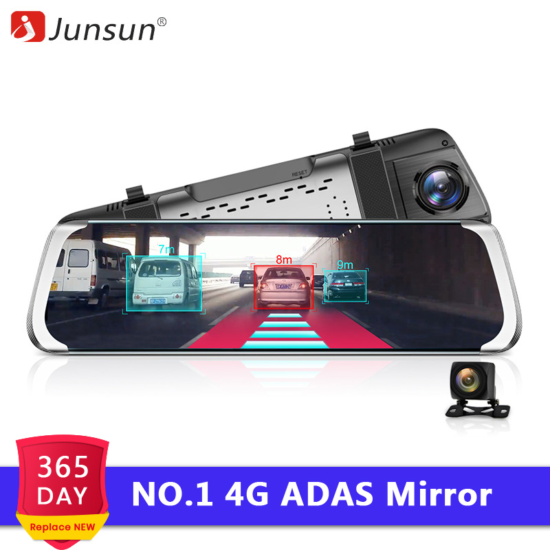 Junsun Car DVR Camera Media Video-Recorder Dash-Cam Rear-View-Mirror Wifi Registrar ADAS