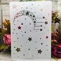 Трафареты A4 29 см «Луна, звезда, Метеорит», «сделай сам», слойные стены, живопись, скрапбукинг, раскраска, тиснение, альбом, декоративный шабло...