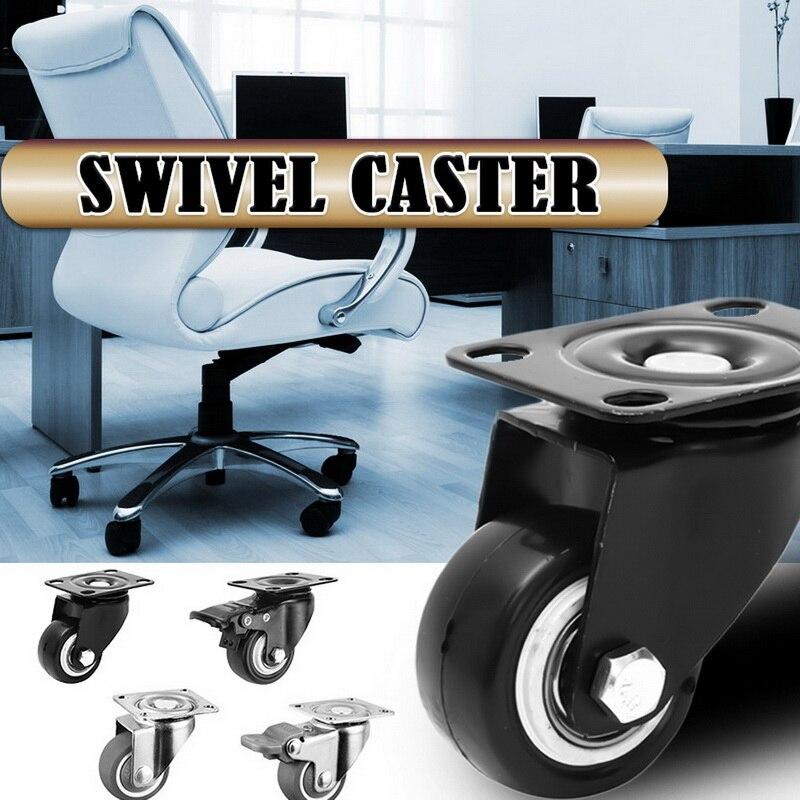 4 pçs/set rodízios móveis roda rodízios rodízios de borracha macia roda de rolo prata para plataforma cadeira do trole do agregado familiar aaccessories-1