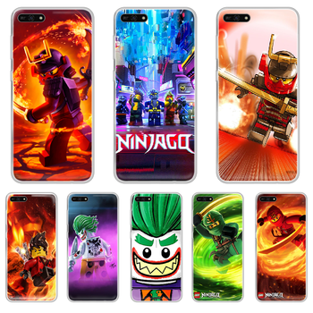 Le-GO Ninjago Masters of Phone Case hull For HUAWEI honor mate 7A 8S 8X 9 9X 10 20 30 pro lite transparent shell luxury image