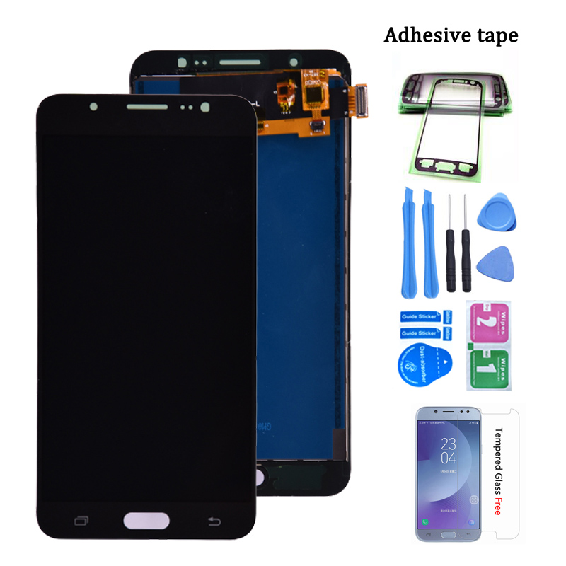 For Samsung Galaxy J7 2016 J710 LCD Display Touch Screen Digitizer Assembly SM-J710F J710M J710H J710FN LCD Adjust Brightness