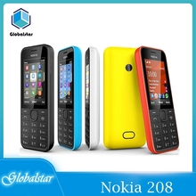 Nokia-teléfono móvil 208 renovado, Original, Sim, 2G/3G, GSM, 208 MP, 105 0mAh, barato, soporta hebreo