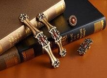2 pcs Bronze Drawer Pulls Handle 4 Styles Red Stone Dresser Knob Rustic Droor Handles Decorative Cabinet