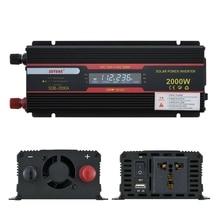 2000W Car Inverter DC 12V/24V to AC 110V/220V Voltage Converter with LCD Display