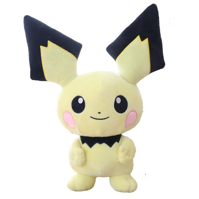takara-tomy-font-b-pokemon-b-font-pichu-plush-stuffed-pikachu-juvenile-version-evolution-hobby-doll-christmas-for-kids-pkm-toy