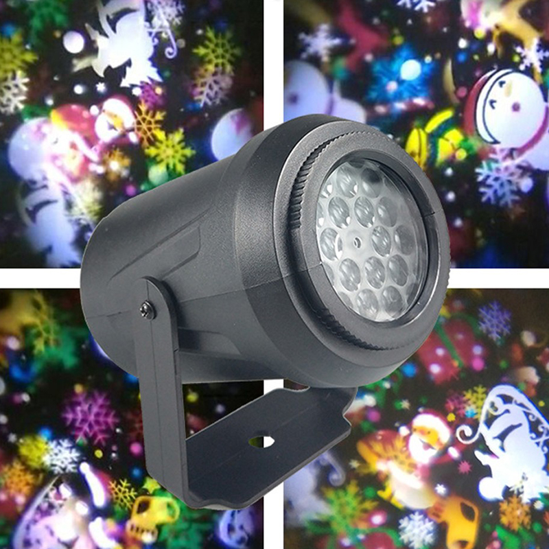 Blizzard Rotating Mobile Laser Projector Lights Christmas New Year Party Lights 16 Mode LED Stage Lights Landscape Garden Lights