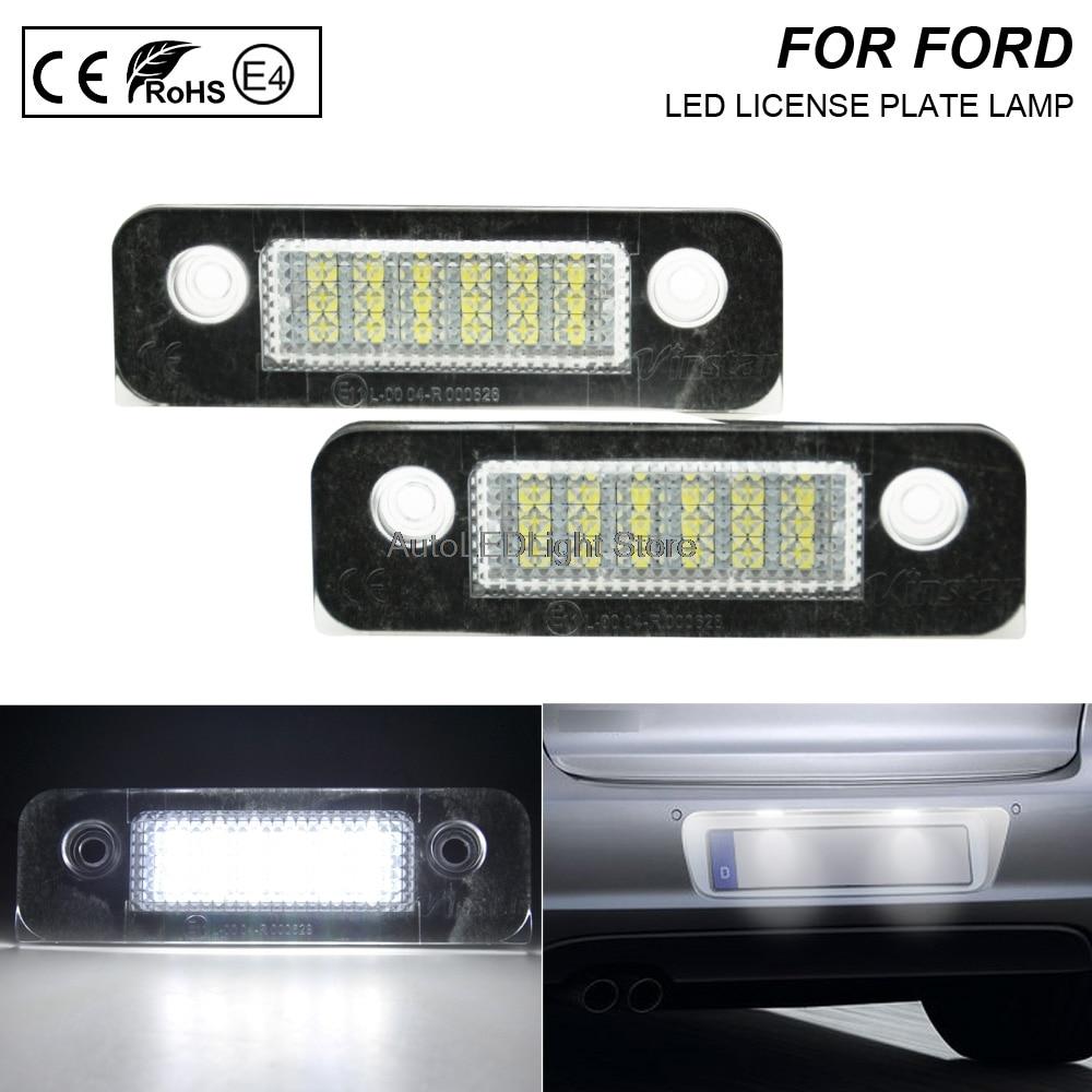 2x 36mm 6 LED Error Free Xenon White Number Plate Bulbs FORD FIESTA MK 6