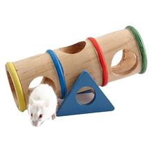 Hamster Seesaw Tube Pet Wooden Hamster Seesaw Toy Seesaw Tunnel Toys for Hamster Hedgehog