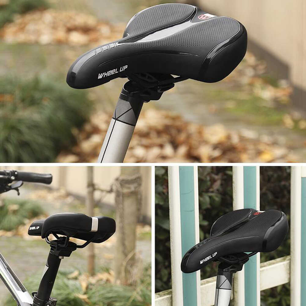 Universal Reflective Bike Seat Comfortable PU Bike Seat Replacement Shock Absorbing Bicycle Saddle for Bike Mountaion Bike