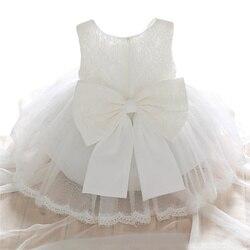 Детское белое платье-пачка с цветочными лепестками