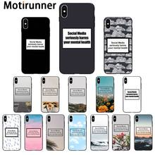 Motirunner Social Media seriously harms your mental health Phone Case for iPhone 11 pro XS MAX 8 7 6 6S Plus X 5 5S SE XR(China)