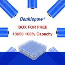 100% оригинальные 4 шт. батарейки Doublepow 3,7 в 18650 2000/2600/3400 мАч литий-ионный аккумулятор для фонарика освобождение от уплаты фрахта