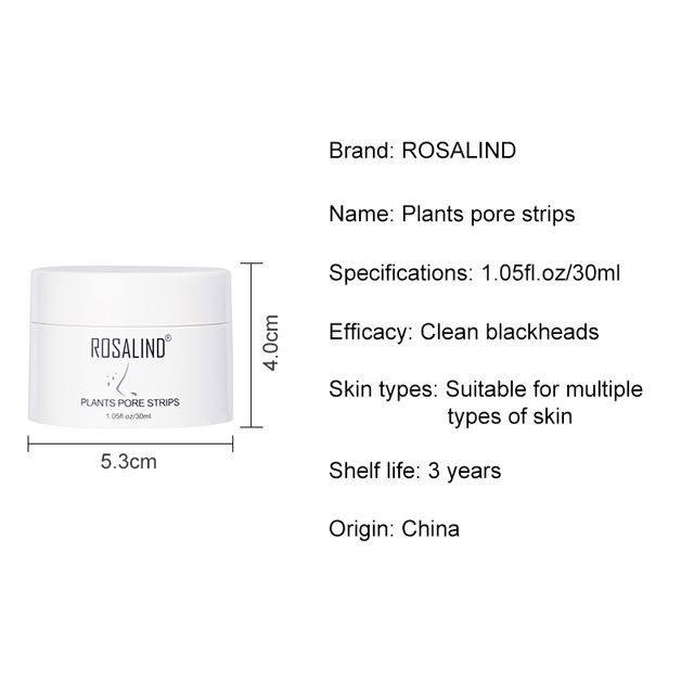 ROSALIND Face Masks From Black Dots Stripes Nose Pore Blackhead Remove Wrinkle Acne Nose Tearing Mask For The Face Cream Care 5